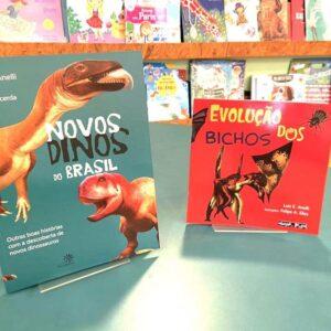 Combo livro Novos dinos do brasil + livro a evolução dos bichos